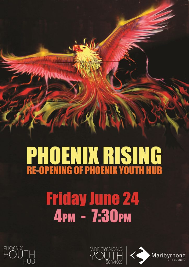 phoenix rising event promotional flyer front 7241024
